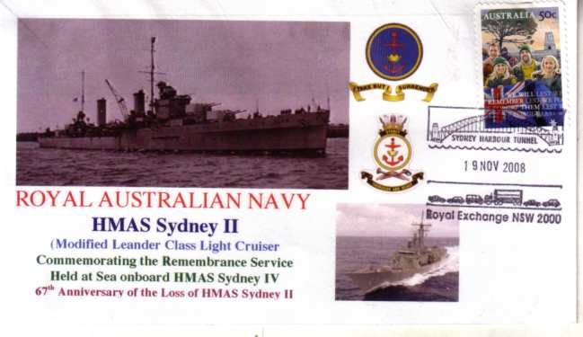 HMAS Sydney II - 19 Nov 2008 - Sydney Harbour Tunnel cover