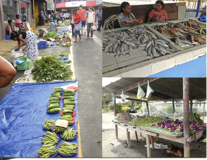 Fiji - Market and street sellers