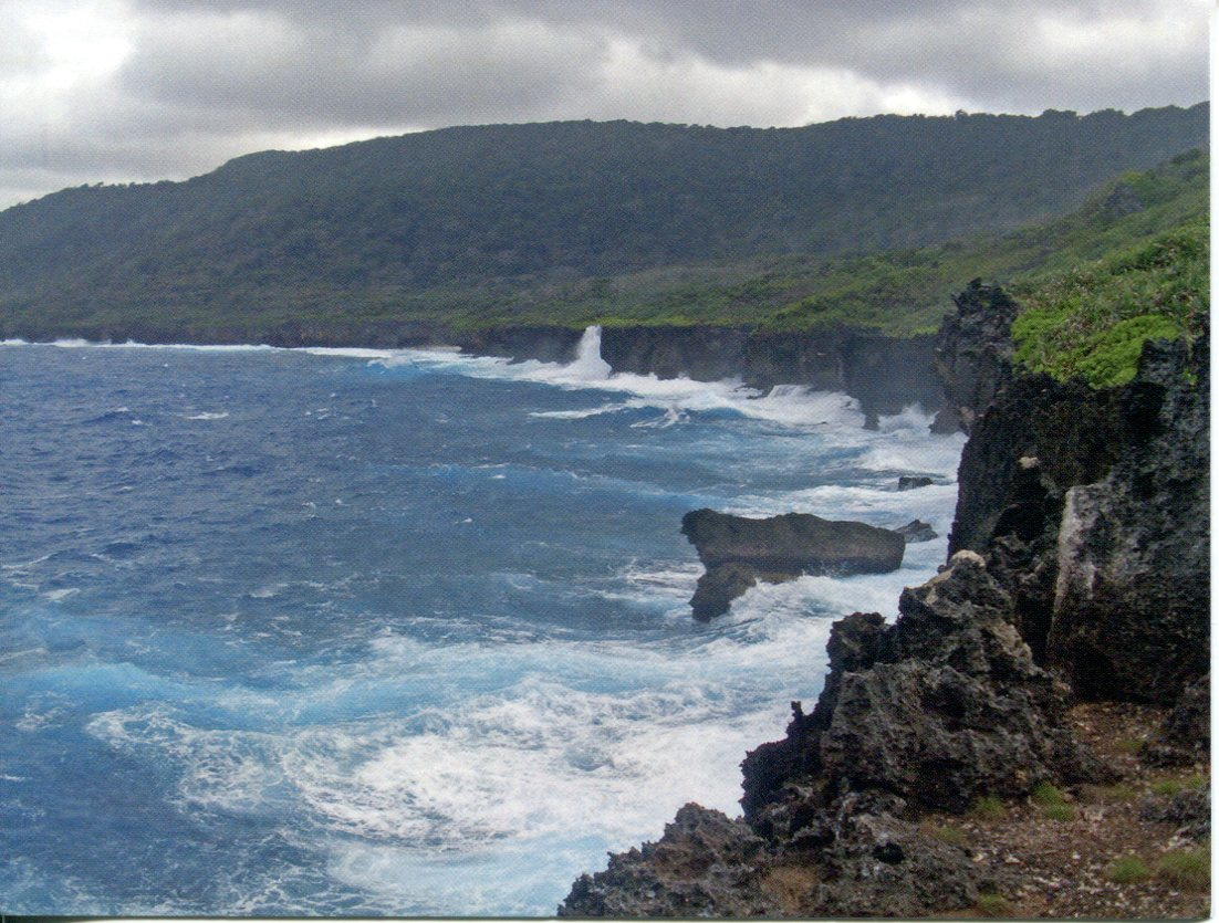 Christmas Island - Rugged coastline of Christmas Island