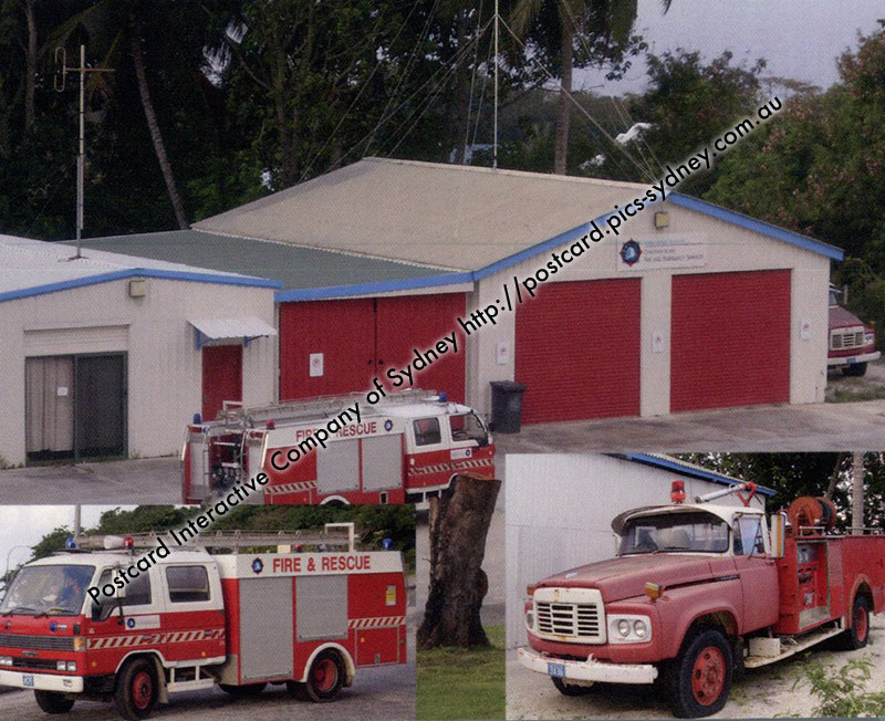 Christmas Island Fire Station & Truck