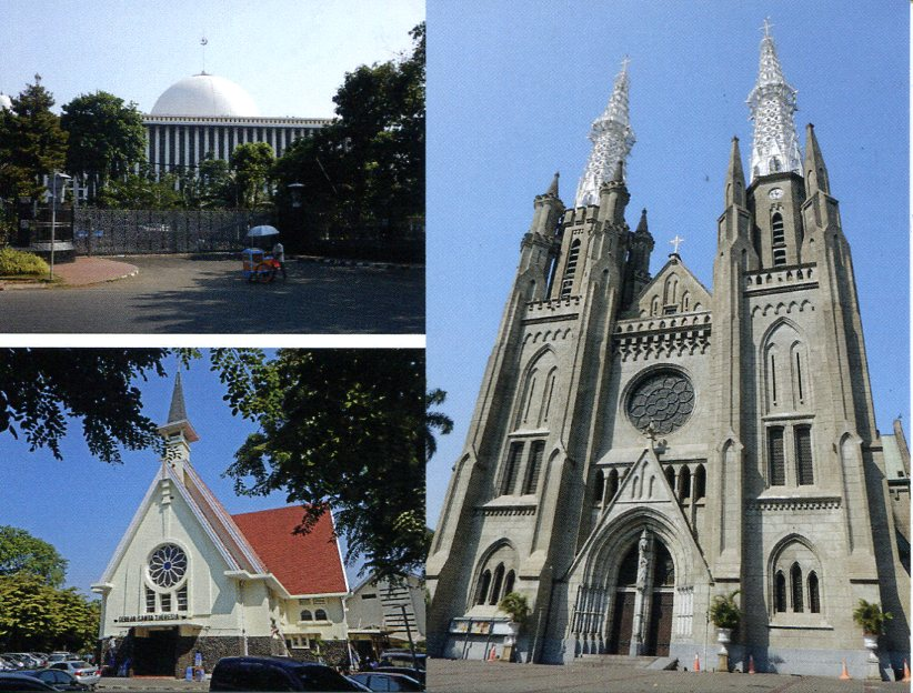 Indonesia - Jakarta Religious Buildings (Cathedral, Mosque...)