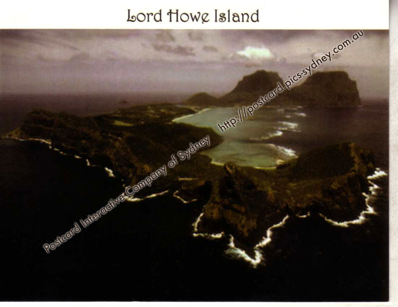 NSW UNESCO - Lord Howe Island (from the air)