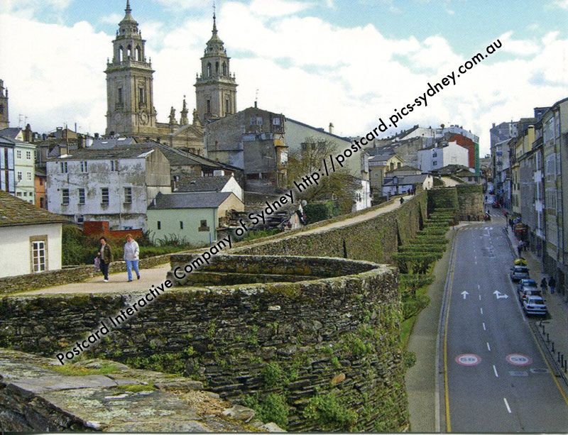 Lugo Spain  city pictures gallery : whsS36 Roman Walls of Lugo Spain